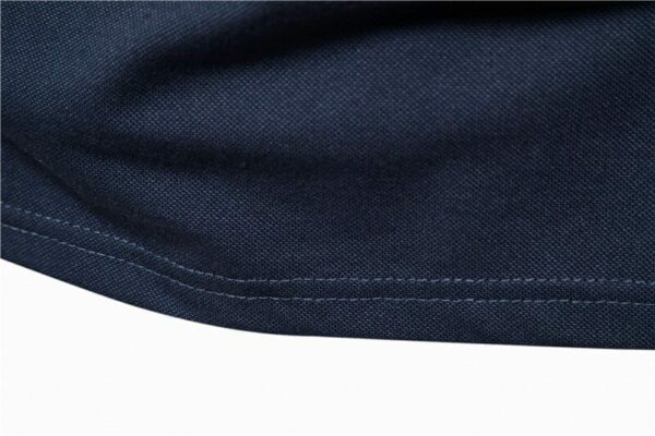 Men's two-colour casual polo short sleeves
