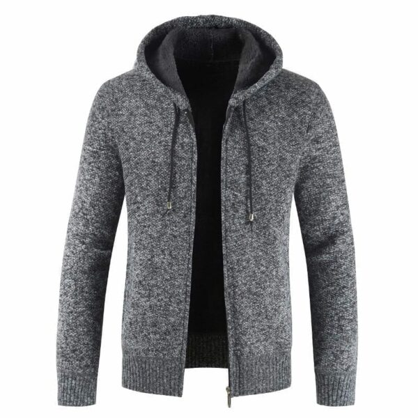 Mid-season hooded jacket for men