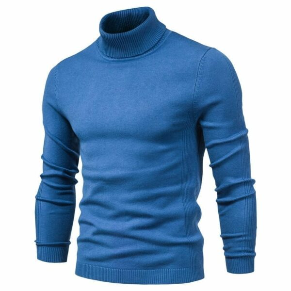 Casual slim turtleneck sweater for men