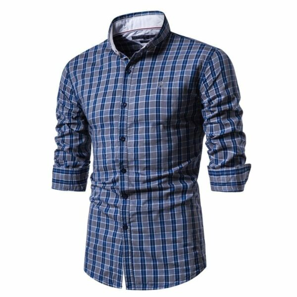 Men's flannel-style small-tiled shirt