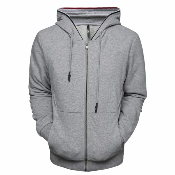 Men's cotton zip-up single hoodie