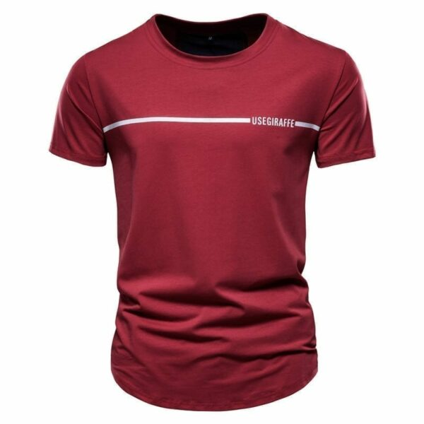 Slim fit men's round-neck T-shirt