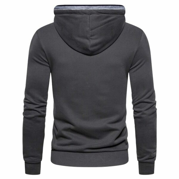 Men's solid-coloured hoodie shirt
