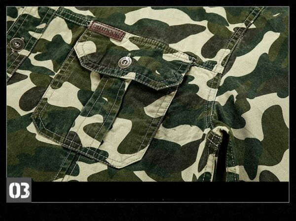 Chemise casual style camouflage manches courtes hommes