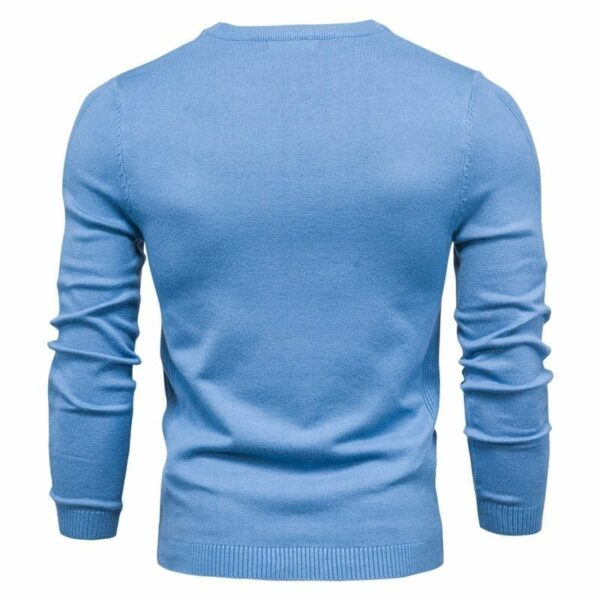 Casual long-sleeved round-neck sweater for men