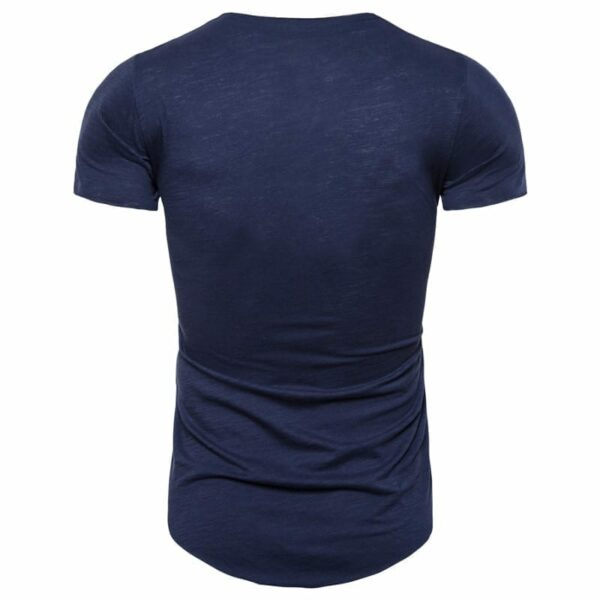 Men's slim fit col v streetwear t-shirt