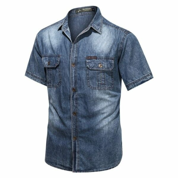 Men's jeans denim shirt