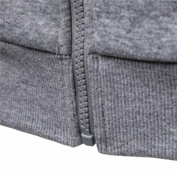 Embroidered zipped hooded sweatshirt for men