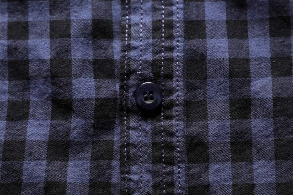 Men's flannel embroidered shirt