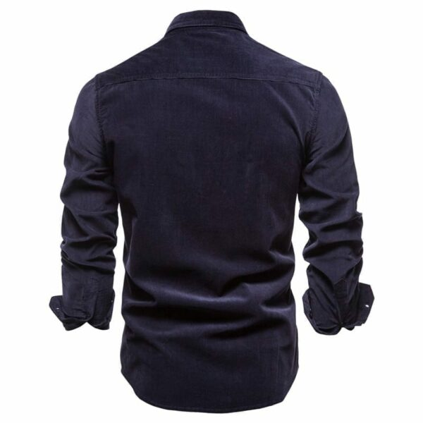 Chemise casual simple boutonnage pour hommes