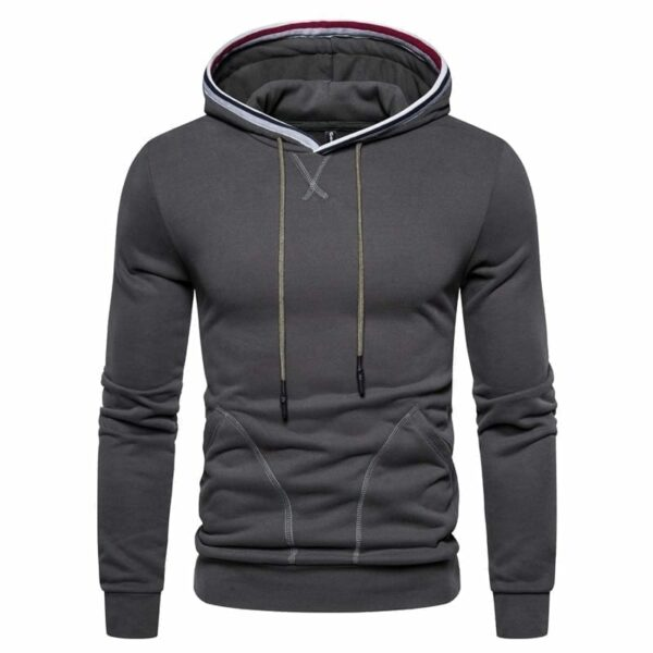 Sweat-shirt hoodie couleur unie design modern hommes
