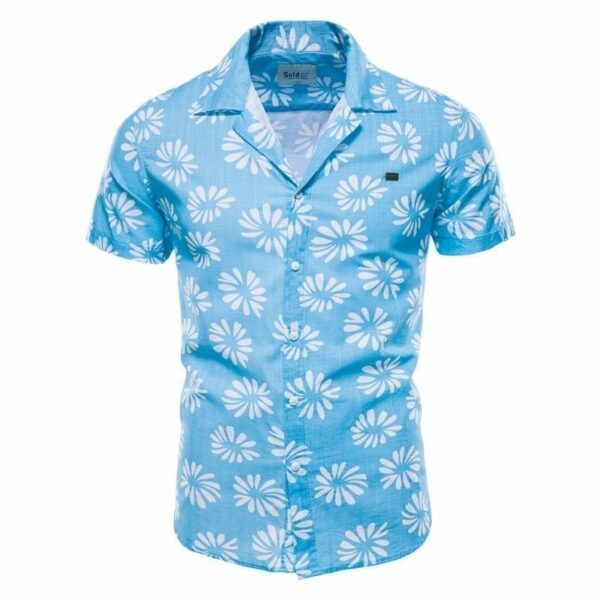 Cotton Lin Flowers Printed Men's Shirt