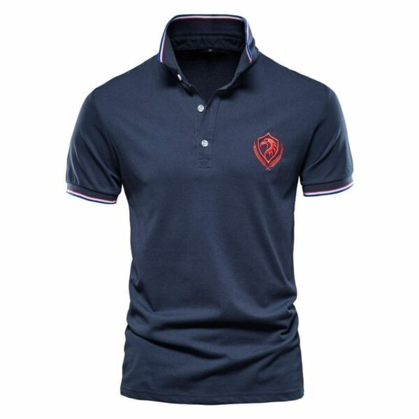 Casual embroidered polo for men