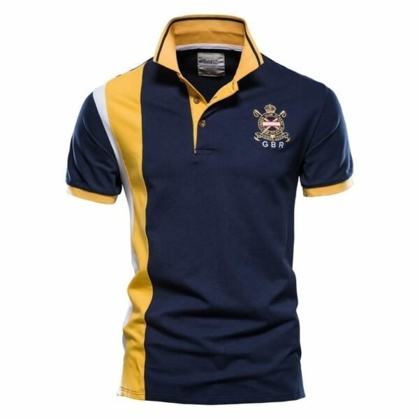 Men's modern design polo short sleeves