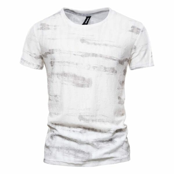 T-shirt slim original impression col rond hommes